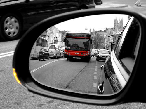 Los autobuses son más bonitos por fuera...