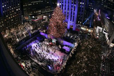 El árbol de Navidad en el Rockefeller Center. Qué bonito...