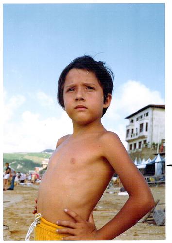 De pequeño, en San Sebastián