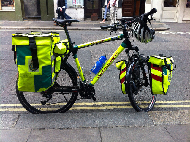 Bici ambulancia en Londres