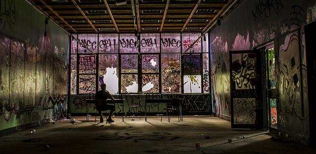 Abandones classroom